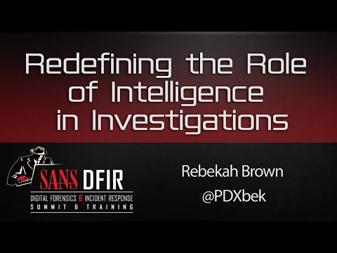 What Would You Say You Do Here?: Redefining the Role of Intelligence in Investigations