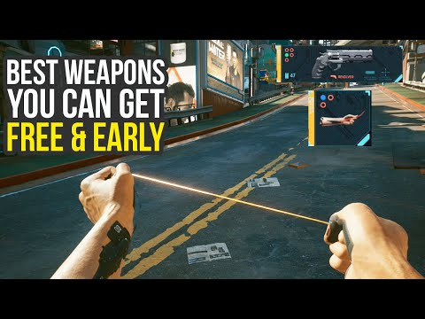 Cyberpunk 2077 Best Weapons You Can Get For FREE & EARLY (Cyberpunk 2077 Weapons)