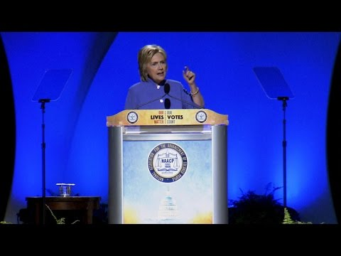 Hillary Clinton speaks before NAACP