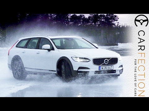 Ice Drifting With The Volvo V90 Cross Country - Carfection