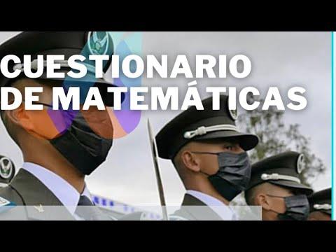 Policía Nacional 2021 : Cuestionario de Matemáticas Resuelto