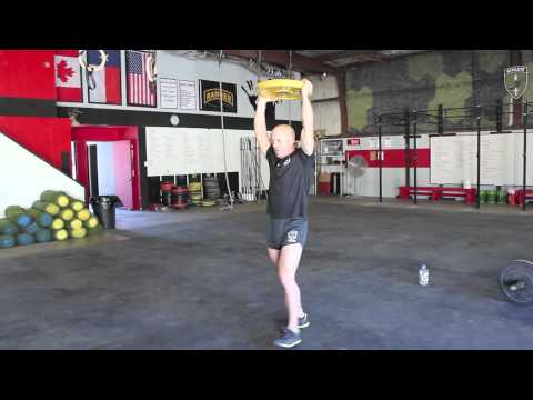 Overhead Plate Lunge