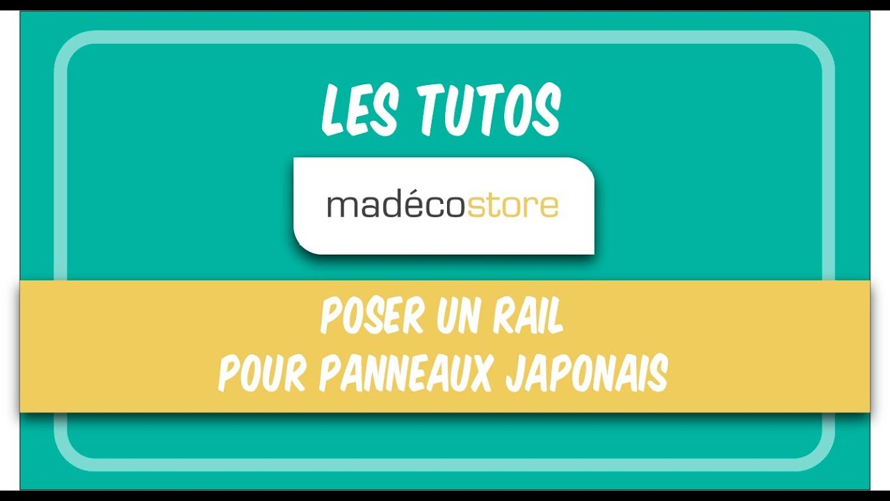 poser un rail pour panneaux japonais en 2 tapes youtube. Black Bedroom Furniture Sets. Home Design Ideas