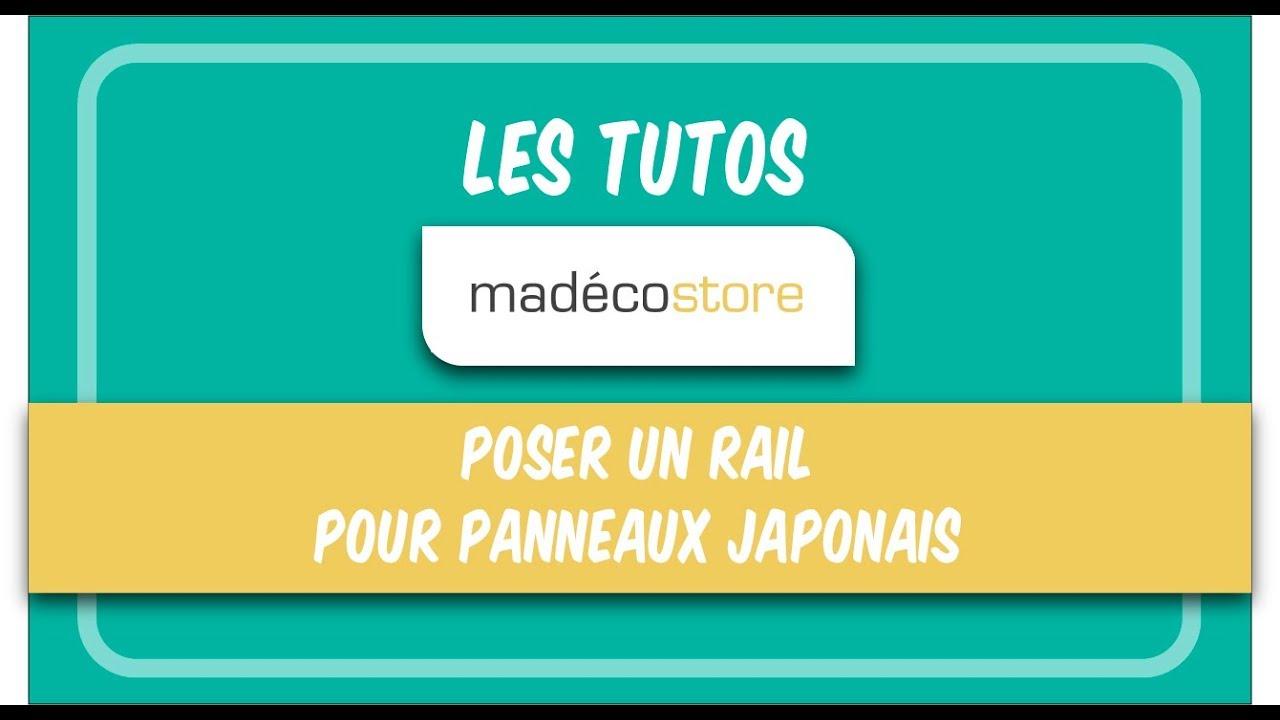 poser un rail pour panneaux japonais en 2 etapes
