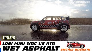 Losi 5ive Mini WRC RTR - Wet asphalt run