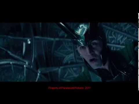 Loki (Tom Hiddleston) best scene from THOR (2011) poster