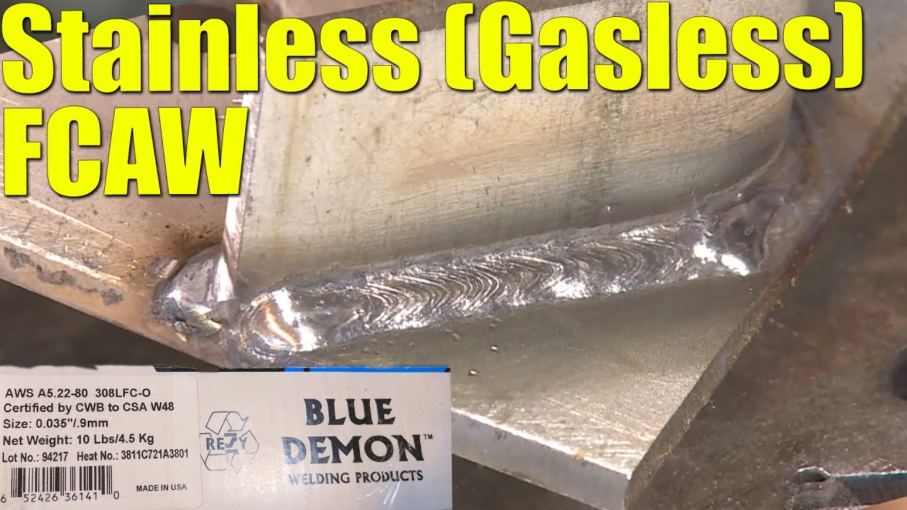 Stainless Steel Fcaw Without Gas With Blue Demon 308lfc O