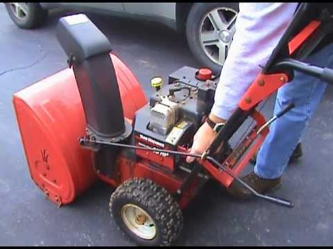 Yard Machine 10 Hp Snow Blower Oil Change Youtube