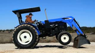 Demo of New Holland TT75 Tractor w/ Loader, 2WD, Great Condition, Gear Shift Transmssion