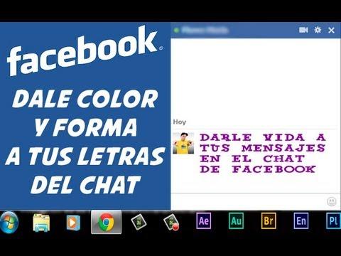 Chat de Facebook poner letras de colores y diferentes 2013