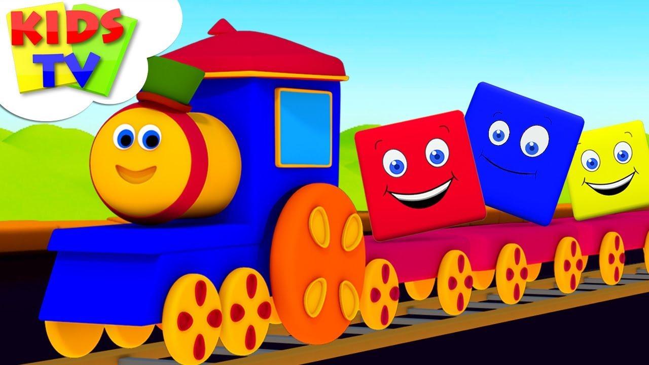 Preschool Learning Videos Bob The Train Cartoon Videos For Children Kids Tv Youtube