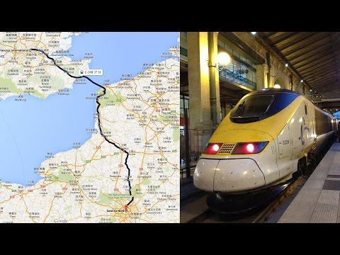 EuroStar Class 373 from St Pancras International to Gare du Nord