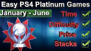 PS4 Easy Platinum Games January - June [2018] | 🏆 55 Games  | Stacks - Price - Time - Difficulty