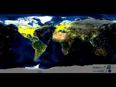 World Airline Traffic (24-Hour Time Lapse) AMAZING!!!