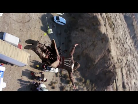 Assassin's Creed: 125 Feet Free Fall Stunt - Michael Fassbender