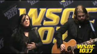 103.7 WSOCs Studio Performance: Caitlin & Will singing No Address in Stars YouTube Videos