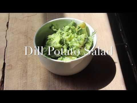 Dill Potato Salad (Vegan, Gluten Free, Oil Free)
