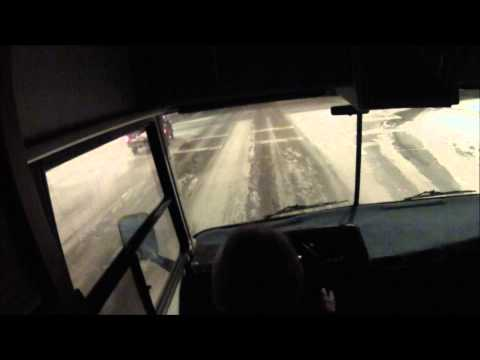 rv night drive(6.5 turbo diesel) in fairbanks alaska