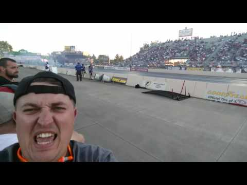Selfie burnout with John Force and Jungle Pam tribute, NHRA Norwalk 2016