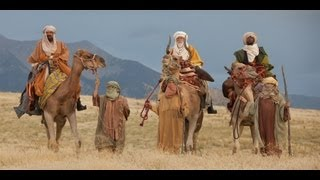 The Wise Men present Jesus with gifts—gold, frankincense, and myrrh...