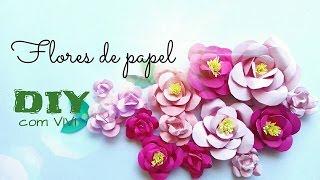DIY/ Flores de Papel - Diy flowers paper craft