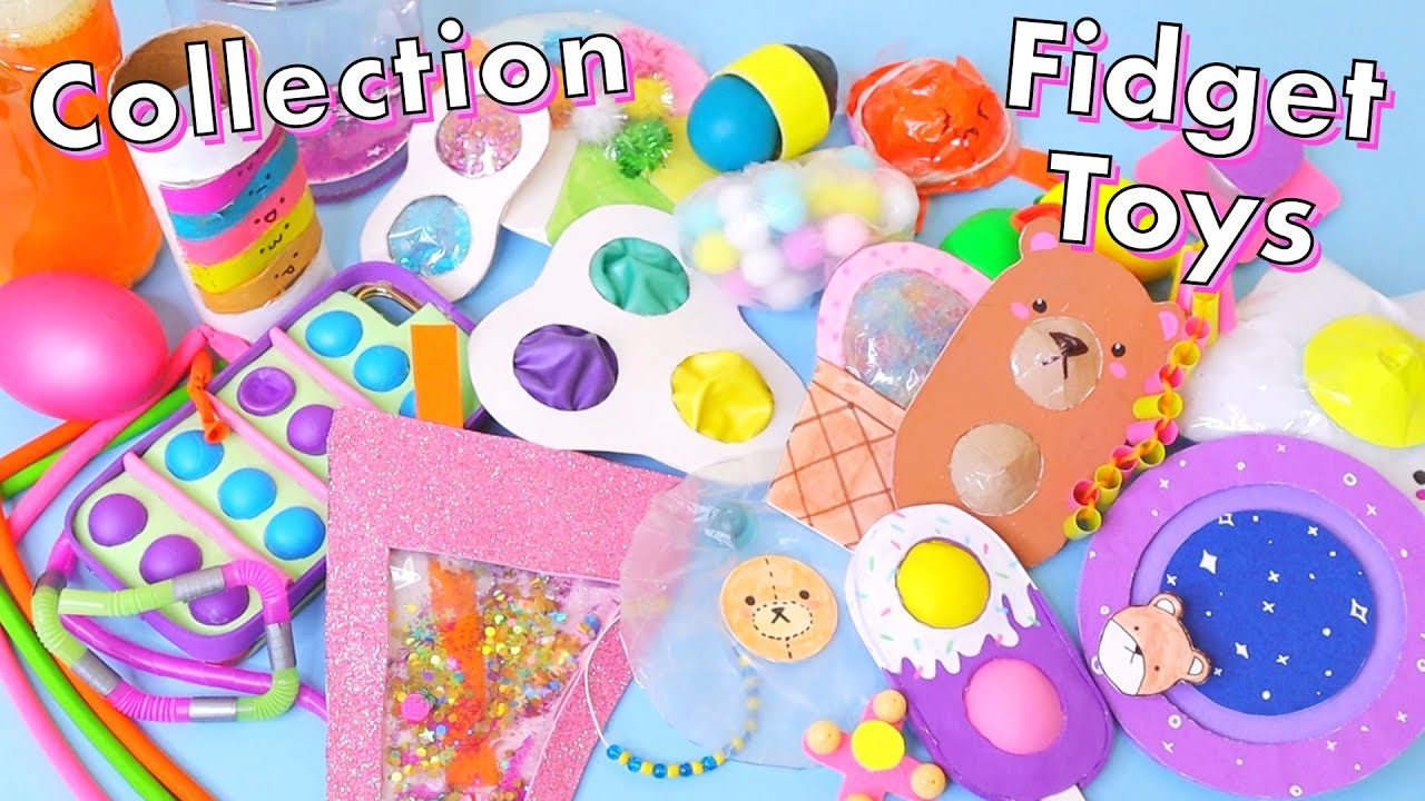 DIY Fidget Toys Collection! Reviewing and rating my fidget toys #2