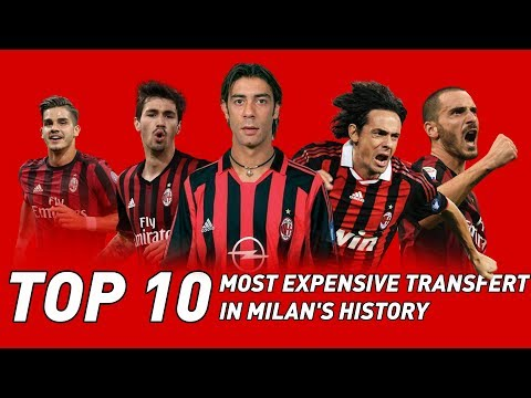 TOP 10 MOST EXPENSIVES PLAYERS IN MILAN'S HISTORY (feat. Bonucci, Inzaghi and Ronaldinho) MilanActu