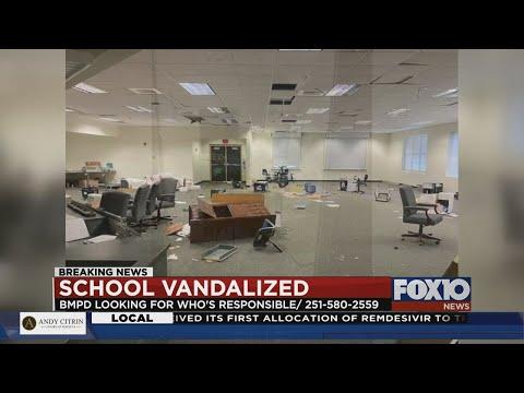 Vandalism at Old Bay Minette Middle School