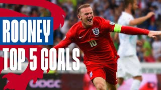 Wayne Rooney's Best Goals | Unstoppable Volley Against Russia! | Top 5 | England