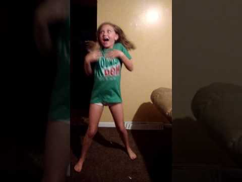 Shaina Roberts dancing to caillou theme song remix