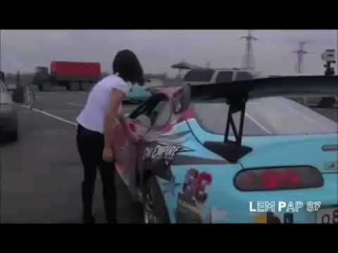 Drift mobil!!! Gak nyangka lepas kancing baju