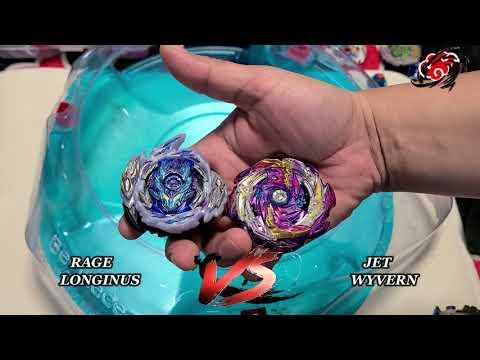 Jet Wyvern META COMBO vs Rage Longinus Beyblade Burst Sparking