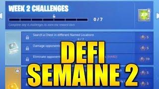 LISTE DES DEFIS SAISON 8 DE LA SEMAINE 2 ASTUCE ET GUIDE sur FORTNITE BATTLE ROYALE !