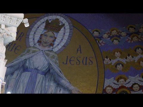 'Holy Virgin By God's Decree' - Rosary Basilica, Lourdes.