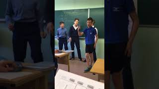 На уроке русского «цвет настроение синий»