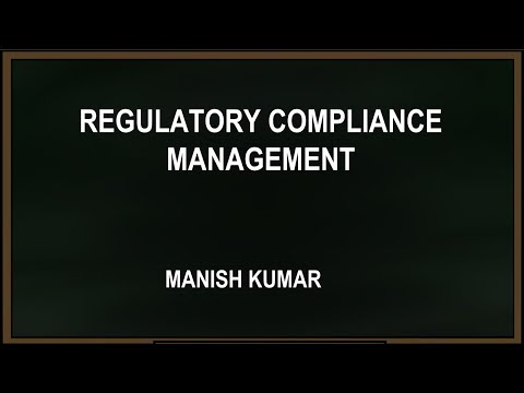 Webinar with Manish Kumar on Regulatory Compliance managment