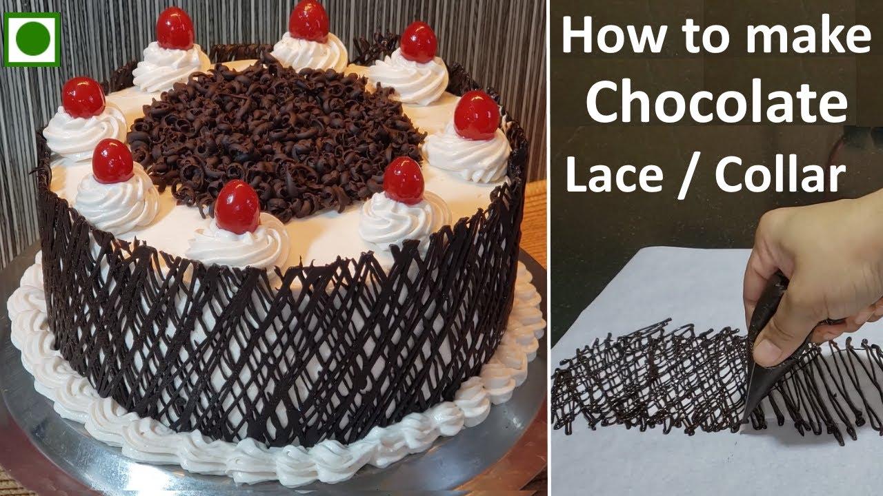 Eggless Caramel Chocolate Cake Recipe | बिना अंडा बिना ओवन केरेमल चॉकलेट केक | Chocolate Collar idea