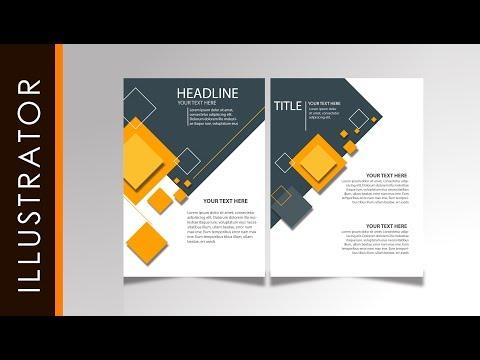 Tutorial Easy Brochure Design Tutorial Simple Yellow Using Adobe Illustrator