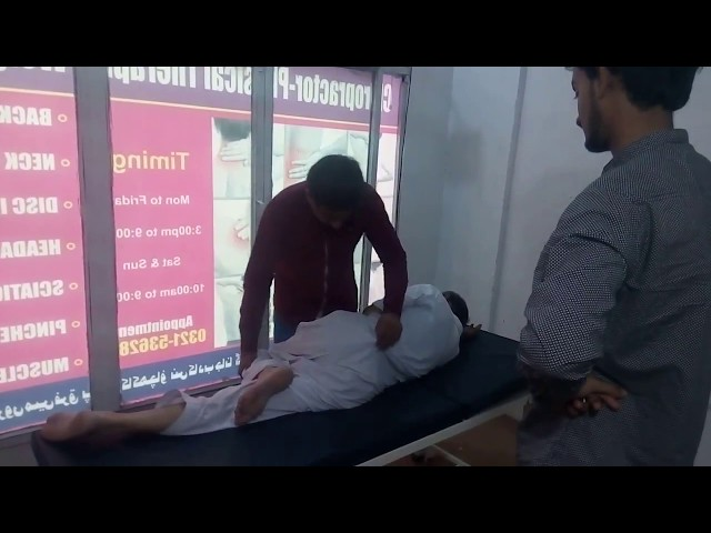 Foot Numbness  Sciatica treatment by Chiropractor Aamir Shahzad CPT