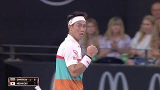 Kei Nishikori v Grigor Dimitrov match highlights (QF)   Brisbane International 2019