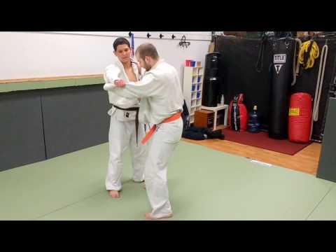 Working on taiotoshi at Cenco member club Oakland Judo