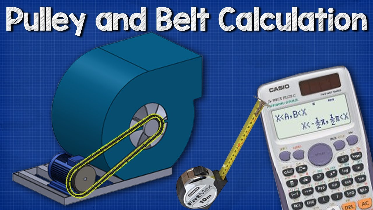Pulley belt calculations length distance between wheels also rh youtube