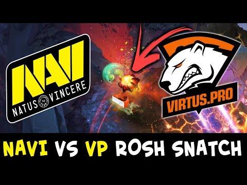 NaVi vs VP — insane Roshan snatch almost Comeback