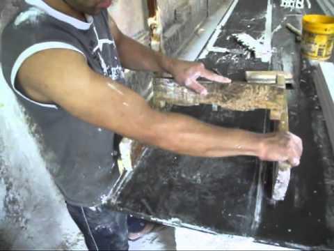 Como fazer forma para fabricar  moldura de gesso