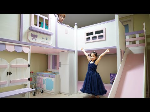 Introduce Kid's Pink Room | Slide, Double Bed, Kitchen Etc