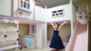 서은이의 방을 공개합니다!! 서은이의 이층침대 공주 화장대 부엌놀이 냉장고 장난감 카트 Introduce Kid