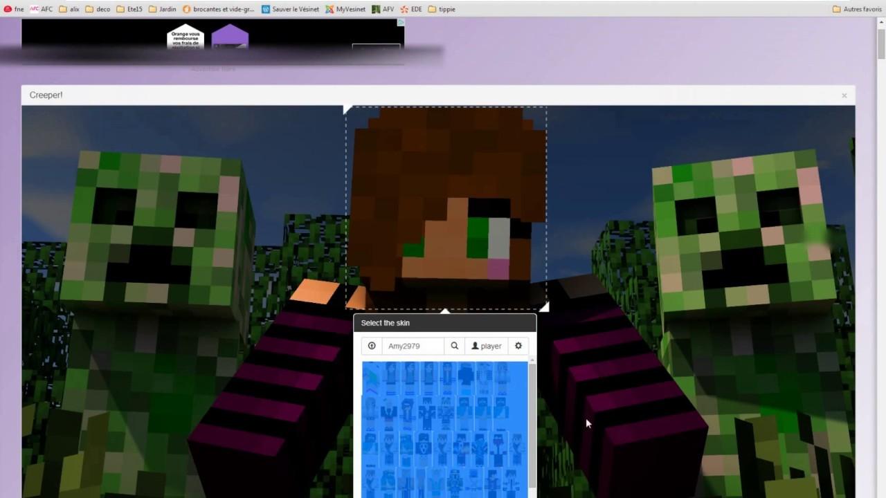 Tuto Comment Mettre Un Fond Décran Minecraft Avec Son Skin Dessus