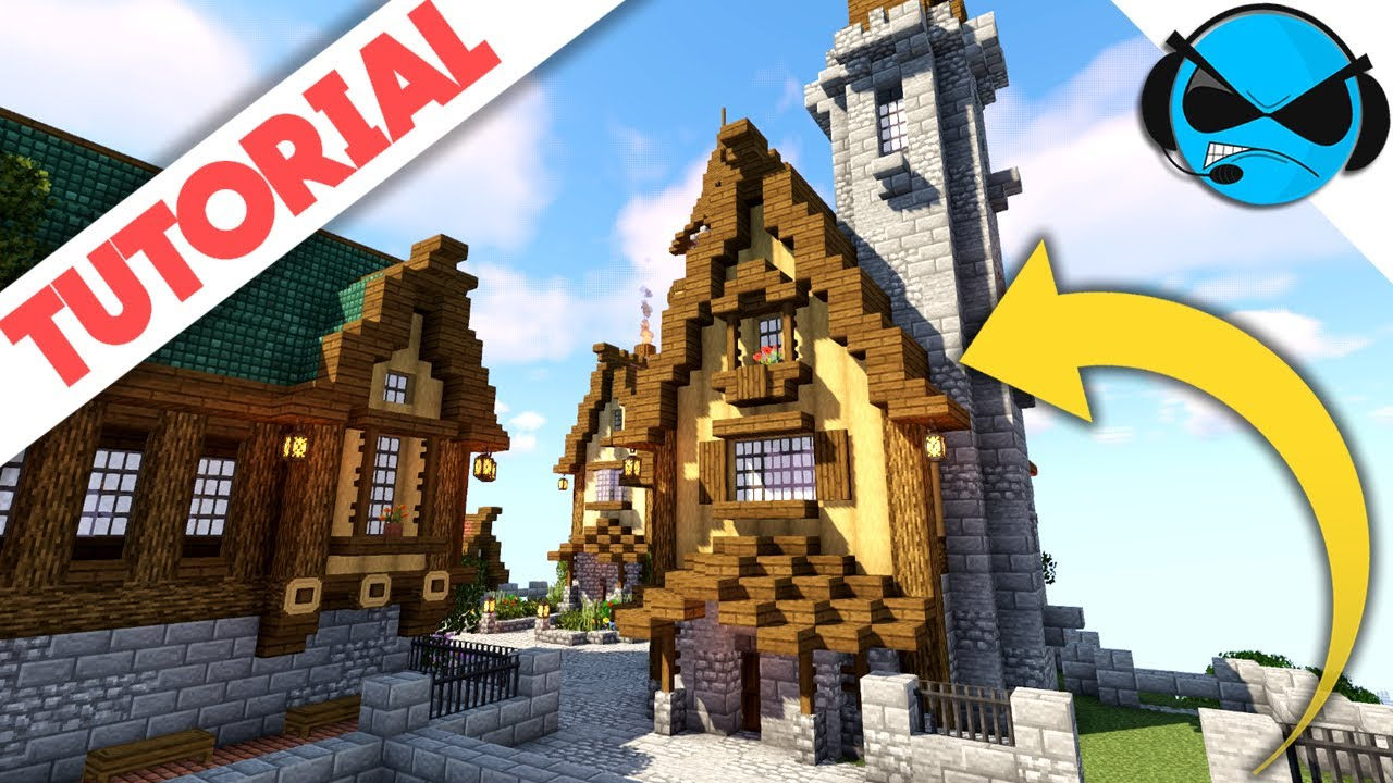 How To Build A Tower House Minecraft Tutorial Minecraft Docks Village Youtube
