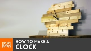 Learn how to make a clock using reclaimed pallet wood and a basic clock movement kit. I carved in the numbers with my ShapeOko