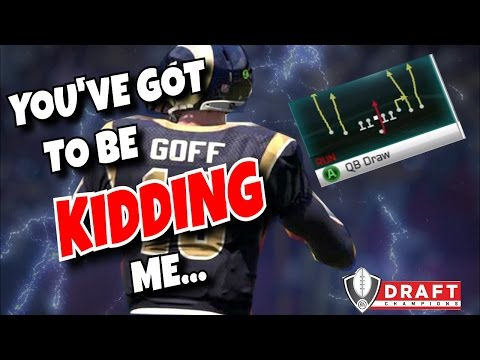 CAN WE WIN A GAME ONLY RUNNING QB DRAW?! (INSANE MADDEN 17 CHALLENGE!)